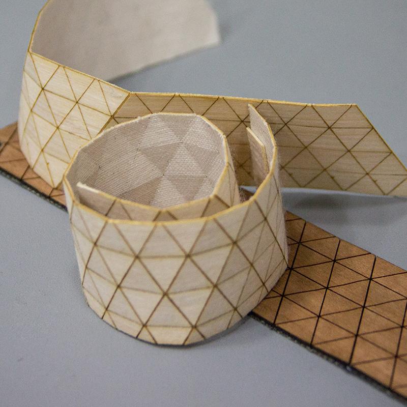 Wooden Textile Bracelet