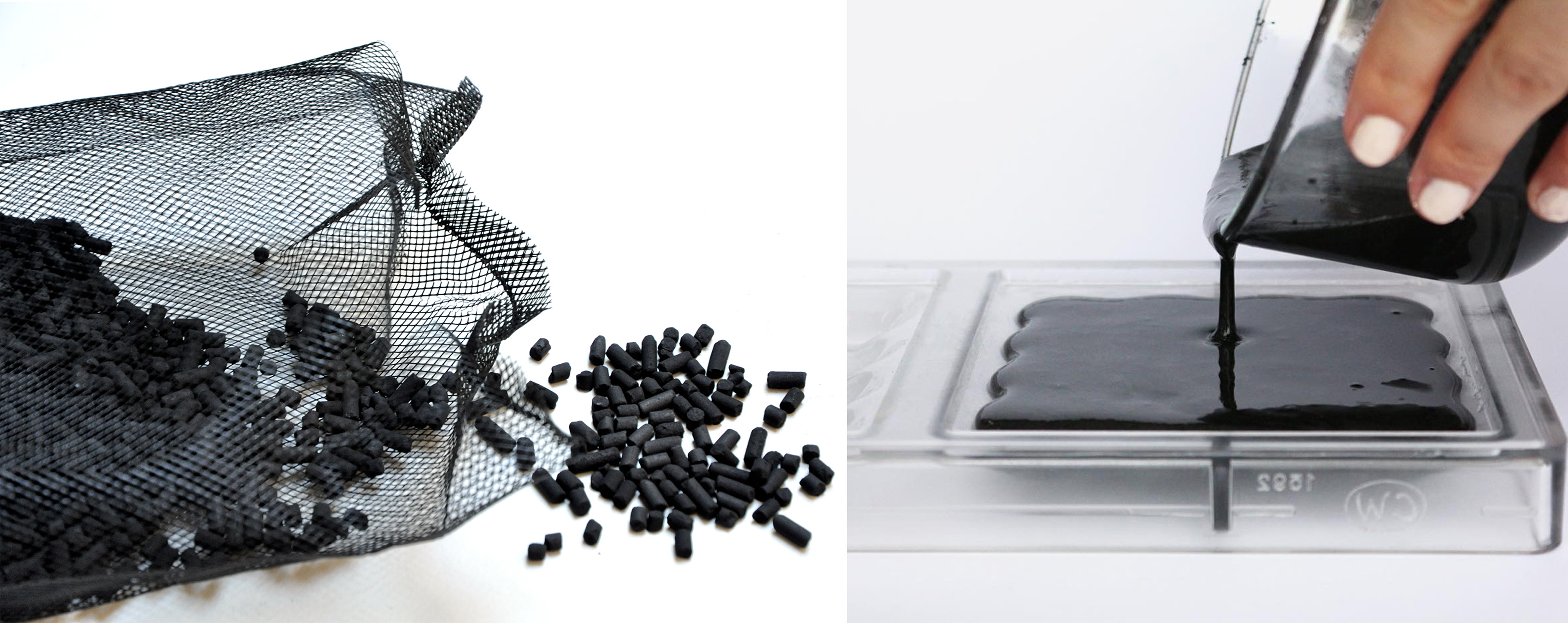 Bio Filter : bioplastic + activated charcoal | FabTextiles